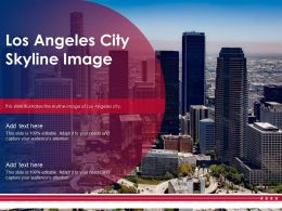 Los Angeles City Skyline Image Powerpoint Presentation PPT Template