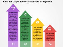 Lose Bar Graph Business Deal Data Management Flat Powerpoint Design