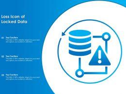 Loss Icon Of Locked Data