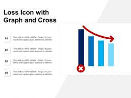 Loss Icon With Graph And Cross