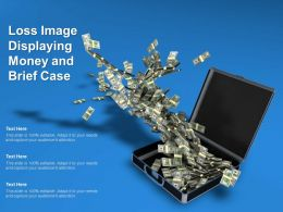Loss Image Displaying Money And Brief Case