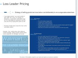 Loss Leader Pricing Ppt Powerpoint Presentation Infographic Template Clipart Images