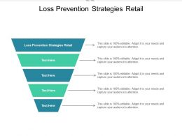 Loss Prevention Strategies Retail Ppt Powerpoint Presentation Outline Graphics Pictures Cpb