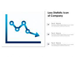Loss Statistic Icon Of Company