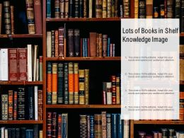 Lots Of Books In Shelf Knowledge Image