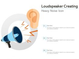 Loudspeaker Creating Heavy Noise Icon
