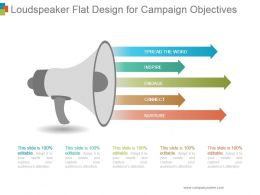 Loudspeaker Flat Design For Campaign Objectives Ppt Design