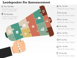 Loudspeaker For Announcement Flat Powerpoint Design
