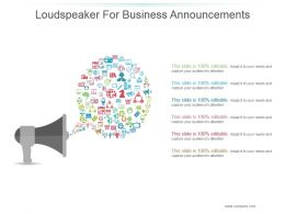 Loudspeaker For Business Announcements Ppt Images Gallery