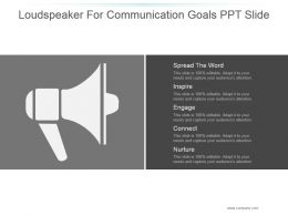 Loudspeaker For Communication Goals Ppt Slide