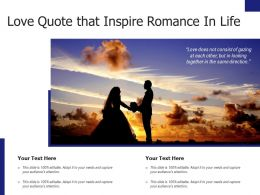 Love Quote That Inspire Romance In Life