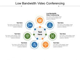 Low Bandwidth Video Conferencing Ppt Powerpoint Presentation Slides Graphics Design Cpb