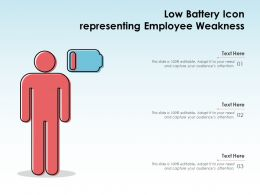 Low Battery Icon Representing Employee Weakness
