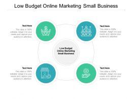 Low Budget Online Marketing Small Business Ppt Powerpoint Presentation Portfolio Professional Cpb