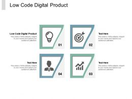 Low Code Digital Product Ppt Powerpoint Presentation Inspiration Format Cpb