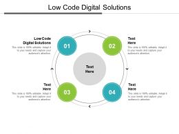 Low Code Digital Solutions Ppt Powerpoint Presentation Summary Graphic Tips Cpb