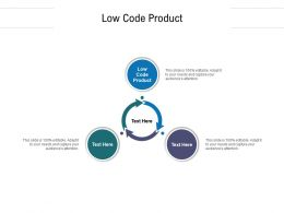 Low Code Product Ppt Powerpoint Presentation Professional Design Inspiration Cpb