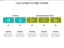 Low Context Vs High Context Ppt Powerpoint Presentation Outline Information Cpb