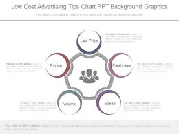 Low Cost Advertising Tips Chart Ppt Background Graphics