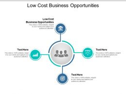 Low Cost Business Opportunities Ppt Powerpoint Presentation Styles Layouts Cpb