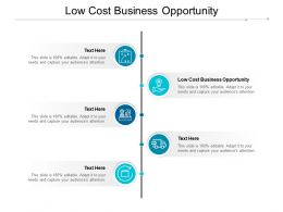 Low Cost Business Opportunity Ppt Powerpoint Presentation Styles Skills Cpb