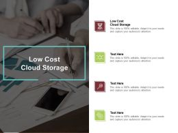 Low Cost Cloud Storage Ppt Powerpoint Presentation Inspiration Graphics Cpb