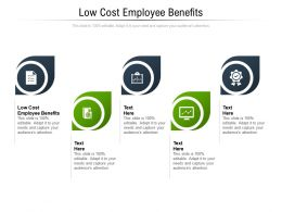 Low Cost Employee Benefits Ppt Powerpoint Presentation Design Ideas Cpb