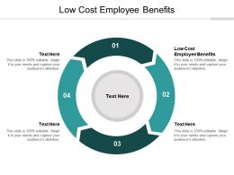 Low Cost Employee Benefits Ppt Powerpoint Presentation Gallery Information Cpb