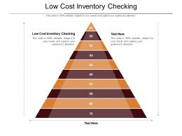Low Cost Inventory Checking Ppt Powerpoint Presentation Layouts Display Cpb