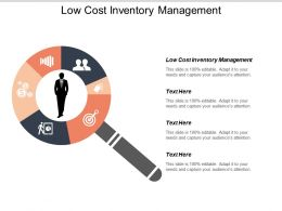 Low Cost Inventory Management Ppt Powerpoint Presentation Icon Show Cpb