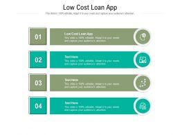 Low Cost Loan App Ppt Powerpoint Presentation Layouts Portfolio Cpb