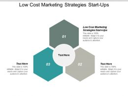 Low Cost Marketing Strategies Start Ups Ppt Powerpoint Presentation File Smartart Cpb