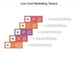 Low Cost Marketing Tactics Ppt Powerpoint Presentation Professional Design Templates Cpb