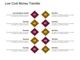 Low Cost Money Transfer Ppt Powerpoint Presentation Outline Design Ideas Cpb