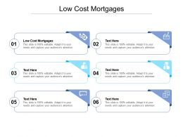 Low Cost Mortgages Ppt Powerpoint Presentation Inspiration Graphics Example Cpb