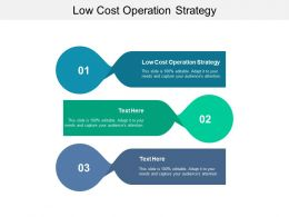 Low Cost Operation Strategy Ppt Powerpoint Presentation Inspiration Graphics Cpb