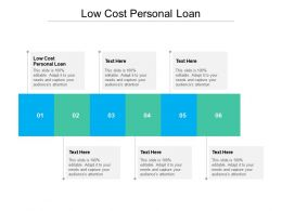 Low Cost Personal Loan Ppt Powerpoint Presentation Show Good Cpb