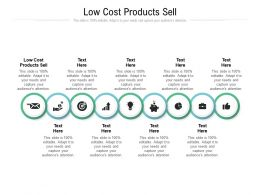 Low Cost Products Sell Ppt Powerpoint Presentation Pictures Information Cpb