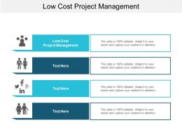 Low Cost Project Management Ppt Powerpoint Presentation Portfolio Background Designs Cpb