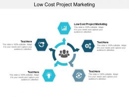 Low Cost Project Marketing Ppt Powerpoint Presentation Portfolio Graphic Tips Cpb