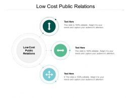 Low Cost Public Relations Ppt Powerpoint Presentation Slide Cpb