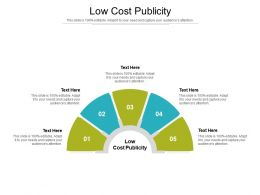 Low Cost Publicity Ppt Powerpoint Presentation Outline Themes Cpb