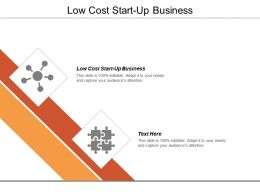 Low Cost Start Up Business Ppt Powerpoint Presentation Gallery Diagrams Cpb