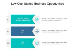 Low Cost Startup Business Opportunities Ppt Powerpoint Presentation File Graphics Template Cpb