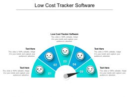 Low Cost Tracker Software Ppt Powerpoint Presentation Ideas Structure Cpb
