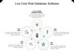 Low Cost Web Database Software Ppt Powerpoint Presentation Infographic Cpb