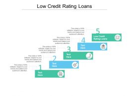 Low Credit Rating Loans Ppt Powerpoint Presentation Summary Background Images Cpb