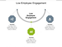 Low Employee Engagement Ppt Powerpoint Presentation Model Styles Cpb