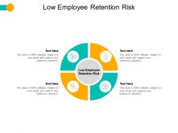 Low Employee Retention Risk Ppt Powerpoint Presentation Graphics Download Cpb