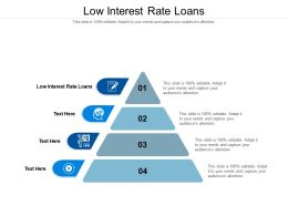 Low Interest Rate Loans Ppt Powerpoint Presentation File Slides Cpb